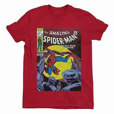 £14.99 • Buy Spiderman Wanted Comic Book Cover Men's Red T-Shirt