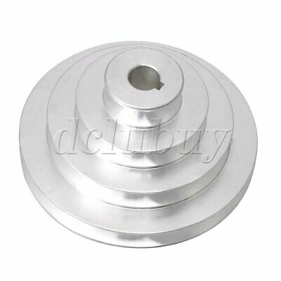 AU18.51 • Buy Silver Aluminum 4 Step Pagoda Pulley Timing Belt 16mm Bore For A Type V-Belt