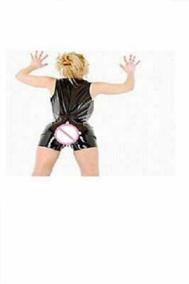 Sleeveless PVC Leather Sexy Romper With Open Crotch Roleplay  • 24.99£