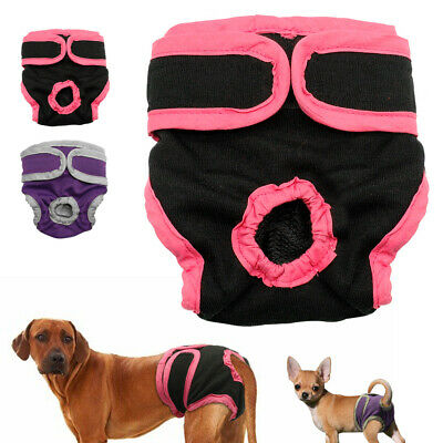 Female Pet Dog Physiological Pants Bitch Season Menstrual Sanitary Nappy Diaper • 2.99£