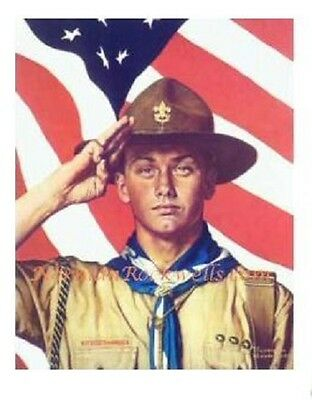 $ CDN6.38 • Buy Norman Rockwell Print  WE TOO HAVE A JOB TO DO   Boy Scouts Salute 1944 11 X15