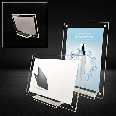 $7.53 • Buy Transparent Acrylic Table Card Menu Holder Stand Restaurant Clear