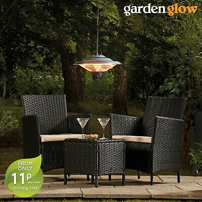 Garden Glow Outdoor Electric Mounted Halogen 1500W Hanging Ceiling Patio Heater • 46.99£