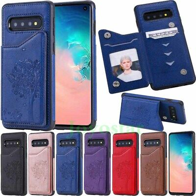 $ CDN7.55 • Buy Magnetic Flip Leather Card Wallet Case Cover For Samsung Galaxy S10 S9 S8 Note 9