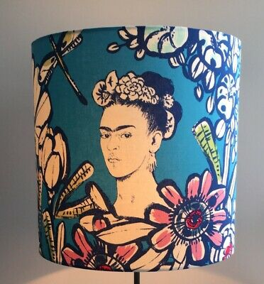 FRIDA KAHLO CACTUS FLOWER LAMPSHADES RED Or BLUE SIZES 20CM 30CM  • 27£