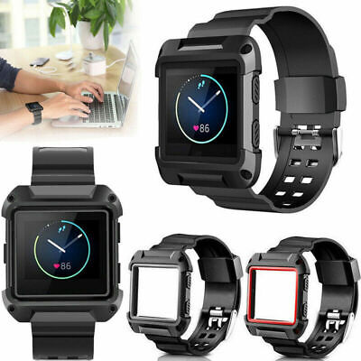 AU8.29 • Buy Black Armor Replacement Large Wristband Watch Band Strap+Frame For FITBIT BLAZE