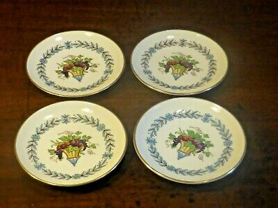 £17.95 • Buy RARE EXCELLENT Wedgwood  APPLEDORE  SET Of 4 BUTTER PAT Tiny DISHES - 8.3cms