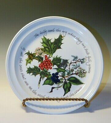 Portmeirion THE HOLLY And THE IVY Christmas Salad Or Lg Dessert Plates, 1995 • 17.50$