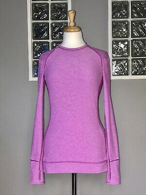 $ CDN60 • Buy Lululemon Think Fast Long Sleeve 6 Heathered Ultra Violet Eeuc Ls