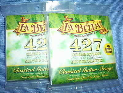 $ CDN21.95 • Buy (02) Sets  LABELLA  Classical Guitar Strings 427