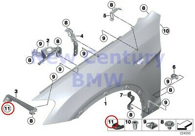 $20.03 • Buy BMW Genuine Engine Hood/Mounting Parts Front Side Panel Stop Buffer F25 F26