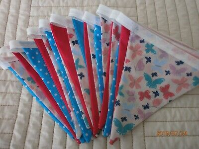 Butterfly Print Themed Bunting - 21 Flags • 8£