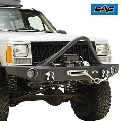 $404.99 • Buy EAG Stinger Front Bumper With Winch Plate Fit 84-01 Jeep Cherokee XJ
