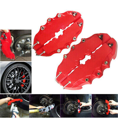 $12.59 • Buy 4PCs Brembo Style 3D Red Disc Brake Caliper Covers Front & Rear Kits Auto Parts