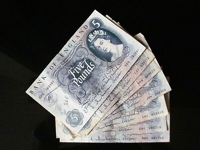 Old £5 Five Pound Notes Selection (Hollom / Fforde) - Choose Your Cashier(s) • 16.99£