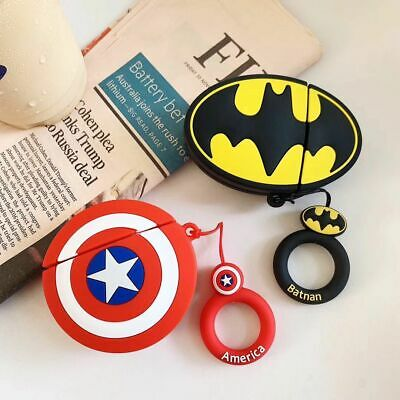 $ CDN6.31 • Buy For Apple Airpods 1st&2nd Cartoon Batman Captain American Earphone Charging Case