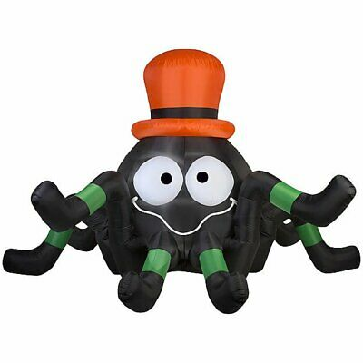 $ CDN108.88 • Buy Halloween Inflatable Animated Spider With Top Hat By Gemmy