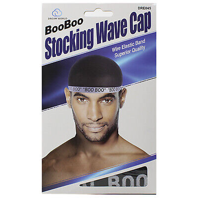 $4.99 • Buy Dream Boo Boo Stocking Wave Cap Wire Eastic Band Wrinkle Free Item No 045 Black