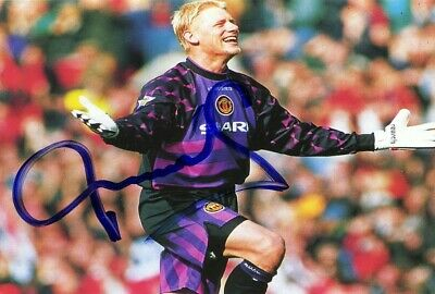 PETER SCHMEICHEL Manchester United Football Signed Autograph PRINT 6x4 Gift • 1.99£