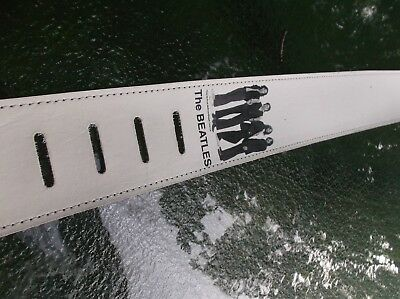 $ CDN35.90 • Buy Guitar Strap The Beatles White 2 1/2  Width Soft Leaather