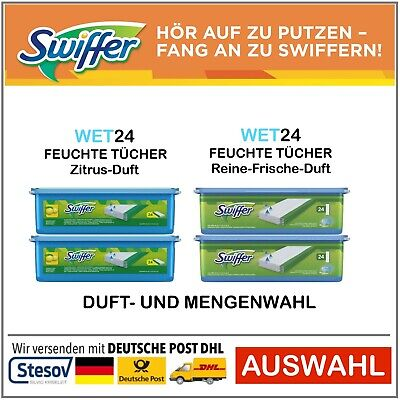 Swiffer Moist Floor Cloths Refill Zitrusduft Pure Fresh Wet Cloths • 20.65£