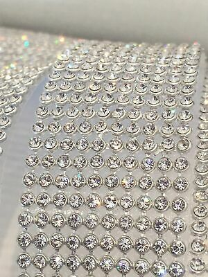 Crystal Rhinestone Diamante Ribbon Silver Chain 1m Rows Cake Decorating FreePost • 2.90£