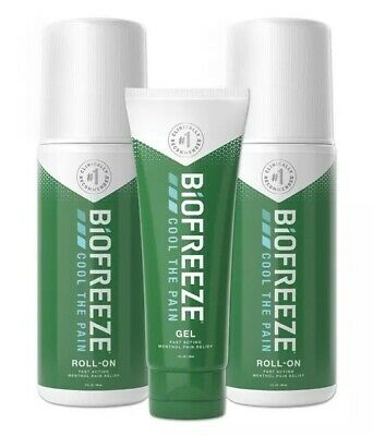 £18.37 • Buy Biofreeze Pain Reliever, 7 Ounce Pack (Two 3oz Roll-ons & One 1oz Gel Tube) NEW!