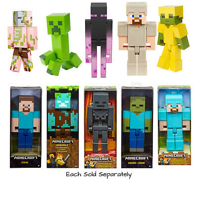 $31.40 • Buy Minecraft Large Scale Action Figures *Your Choice* Steve Alex Zombie & More BNIB