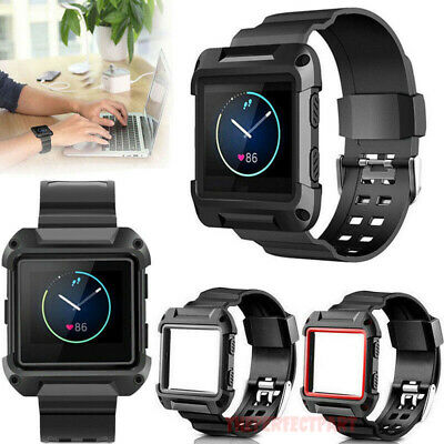$ CDN9.65 • Buy Black Armor New Replacement Wristband Watch Band Strap Frame For Fitbit Blaze US