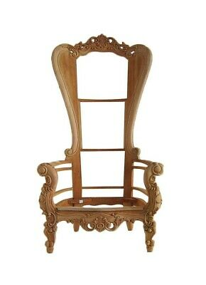 Baroque Throne Chair - Ornate Statement Throne, Mahogany Carved Chair • 450£
