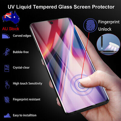 AU16.89 • Buy Samsung Galaxy Note 10 S10+ S20+ UItra UV Liquid Tempered Glass Screen Protector