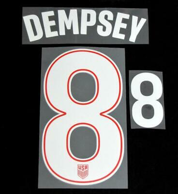 $17.50 • Buy USA Copa America Dempsey 8 Football Shirt Name/number Set Away Sporting ID
