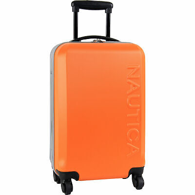 """View Details Nautica Ahoy Hardside Spinner 21"""" Wheeled Suitcase Multiple Colors Available • 59.99$"""