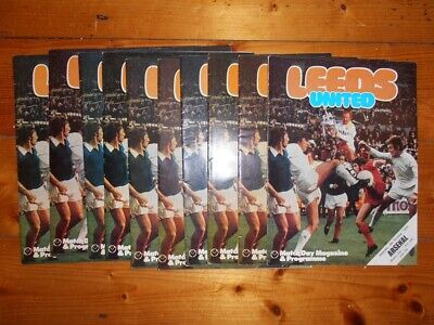 £2.60 • Buy 1974-75 LEEDS UNITED HOME FOOTBALL PROGRAMMES - Your Choice - FREE Postage