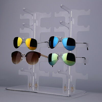 AU28.73 • Buy 5/6/10 Pairs Sunglasses Glasses Rack Holder Frame Plastic Display Stand Case P1
