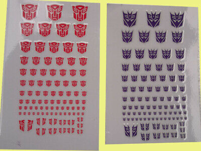 Transformers G1 Decepticons /Autobots 90+ Symbol Sticker Decal For Custom COOL • 2.69£