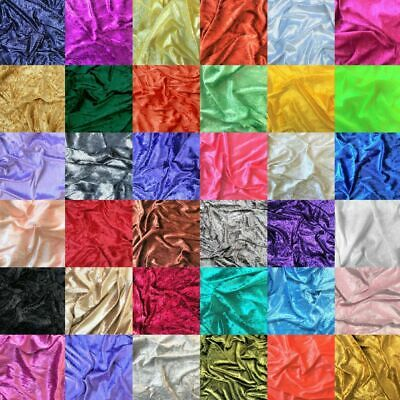 Crushed Velvet Fabric Upholstery Material Premium Stretch Craft 150cm Wide • 4.09£
