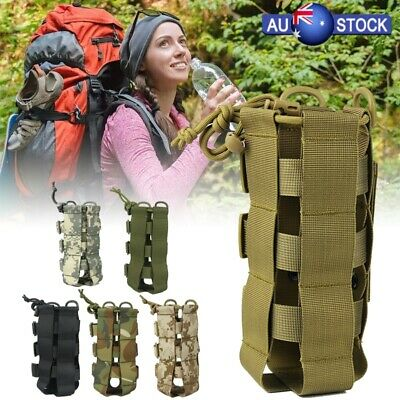 AU12.89 • Buy Outdoor Tactical Molle Water Bottle Bag Military Hiking Belt Holder Kettle Pouch