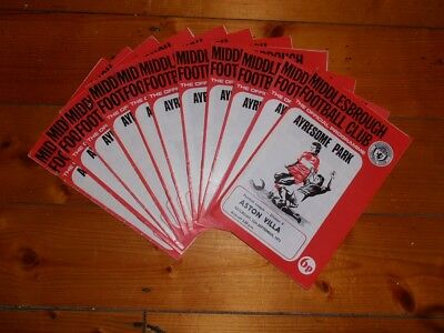 1973-74 MIDDLESBROUGH FC HOME FOOTBALL PROGRAMMES - Your Choice - FREE Postage • 2.25£
