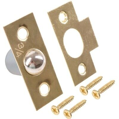 £2.82 • Buy 19mm BRASS BALES CATCH Spring Loaded Cylinder Mortice Ball Door Frame Latch Keep