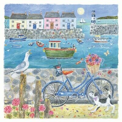 Seaside Bike Ride Seaside Charm Greetings Card - Anne Mortimer Birthday Bicycle • 2.95£