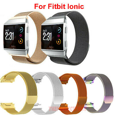 $ CDN12.91 • Buy Milanese Loop Stainless Magnetic Watch Band For Fitbit Ionic Steel Metal Strap