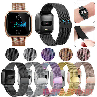 $ CDN9.32 • Buy For Fitbit Versa Metal Milanese Magnetic Loop Strap Stainless Steel Wrist Band