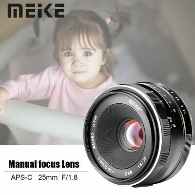 $ CDN97 • Buy Meike 25mm F1.8 APS-C Manual Focus Prime Lens For Sony E Mount A6000 A6300 A6500