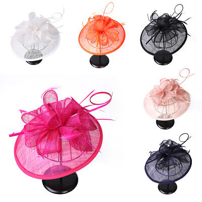 Lily Flower Headband Feathers Mesh Hat Fascinator Wedding Party Hair Accessories • 3.99£