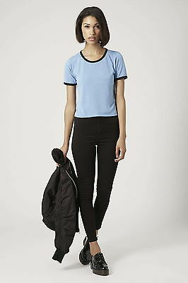 £7 • Buy Topshop Contrast Trim Cropped Tee Top , UK Size 10