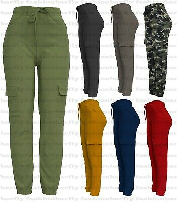 £7.99 • Buy New Ladies Cargo Combat Stretch Casual Trousers Womens Slim Fit Sport Jogger