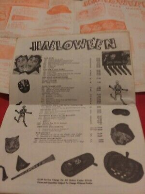 $ CDN28.84 • Buy 1960s HALLOWEEN CATALOG Price Lists Vintage Decorations MASKS Favors Nice