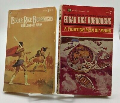 Edgar Rice Burroughs John Carter Book Lot Warlord Of Mars A Fighting Man Of Mars • 2.99$