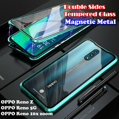 AU18.99 • Buy Magnetic Metal Bumper Double Tempered Glass F OPPO Reno Z 10x Zoom 5G Case Cover